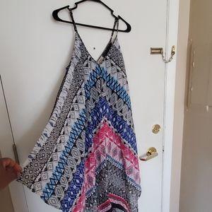 Magic scarf print dress